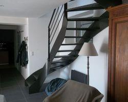 SMRH - GARLAN - Escalier métallique deux quart tournant, Plouescat