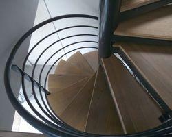 SMRH - GARLAN - Escalier métallique hélicoidale, Saint martin des Champs