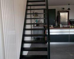SMRH - GARLAN - Escalier métallique en acier thermolaqué, Lannion.