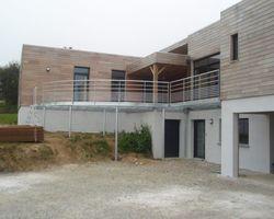 SMRH - GARLAN - Terrasse métallique arrondie, Guimaec