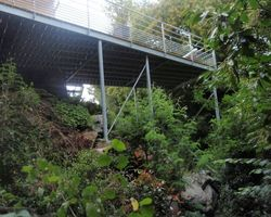 SMRH - GARLAN - Terrasse métallique galvanisé, platelage bois, Quimper